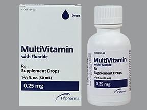 Multi-Vitamin With Fluoride 0.25 mg/mL oral drops