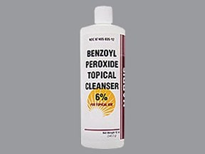 benzoyl peroxide 6 % topical cleanser