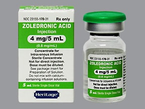 zoledronic acid 4 mg/5 mL intravenous solution