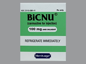 BiCNU 100 mg intravenous solution