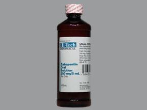gabapentin 250 mg/5 mL oral solution