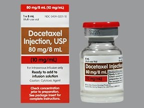 docetaxel 80 mg/8 mL (10 mg/mL) intravenous solution