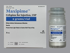 Maxipime 2 gram intravenous solution