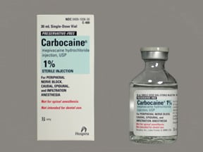 Carbocaine (PF) 10 mg/mL (1 %) injection solution