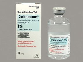 Carbocaine 1 % (10 mg/mL) injection solution