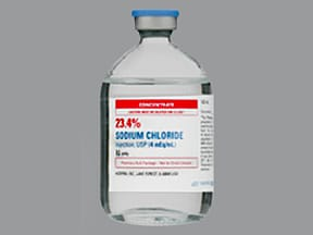 sodium chloride 4 mEq/mL intravenous solution