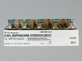 bupivacaine 0.25 % (2.5 mg/mL) injection solution