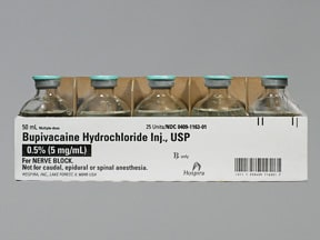 bupivacaine 0.5 % (5 mg/mL) injection solution