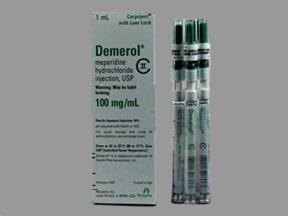 Demerol (PF) 100 mg/mL injection syringe