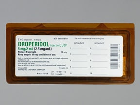 droperidol 2.5 mg/mL injection solution