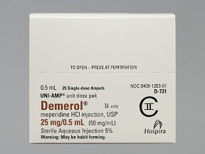 Demerol (PF) 25 mg/0.5 mL injection solution