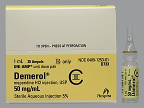 Demerol (PF) 50 mg/mL injection solution