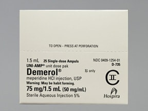 Demerol (PF) 75 mg/1.5 mL injection solution