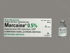 Marcaine (PF) 0.5 % (5 mg/mL) injection solution