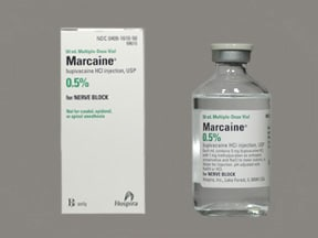 Marcaine 0.5 % (5 mg/mL) injection solution
