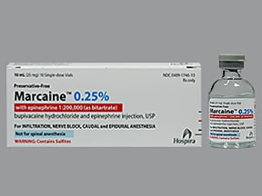 Marcaine-Epinephrine (PF) 0.25 %-1:200,000 injection solution