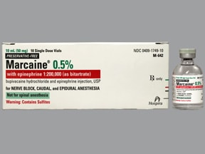 Marcaine-Epinephrine (PF) 0.5 %-1:200,000 injection solution