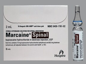 Marcaine Spinal (PF) 0.75 % (7.5 mg/mL) injection solution