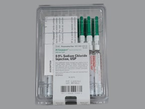 sodium chloride 0.9 % injection syringe