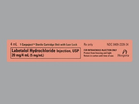 labetalol 20 mg/4 mL (5 mg/mL) intravenous syringe
