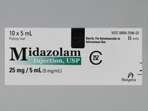 midazolam 5 mg/mL injection solution