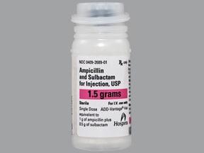 ampicillin-sulbactam 1.5 gram intravenous solution