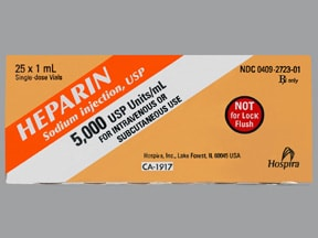 heparin (porcine) 5,000 unit/mL injection solution