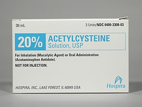acetylcysteine 200 mg/mL (20 %) solution
