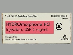 hydromorphone 2 mg/mL injection solution