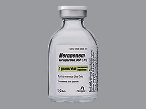 meropenem 1 gram intravenous solution