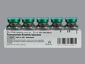 pancuronium 1 mg/mL intravenous solution