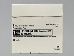 lidocaine (PF) 10 mg/mL (1 %) injection solution