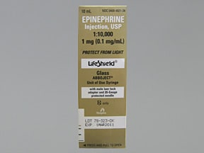 epinephrine 0.1 mg/mL injection syringe