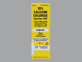 calcium chloride 100 mg/mL (10 %) intravenous syringe