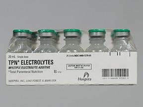TPN Electrolytes 35 mEq-20 mEq-5 mEq/20 mL intravenous solution