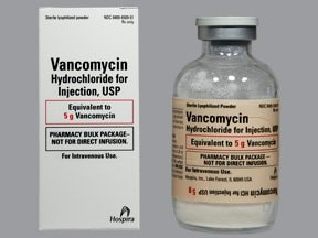 vancomycin 5 gram intravenous solution