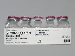 sodium acetate 2 mEq/mL intravenous solution
