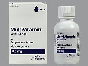 Multi-Vitamin With Fluoride 0.5 mg/mL oral drops