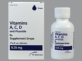 Vitamins A,C,D and Fluoride 0.25 mg fluoride (0.55 mg)/mL oral drops