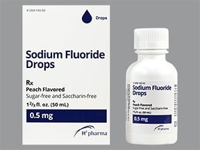 fluoride 0.5 mg (1.1 mg sodium fluoride)/mL oral drops