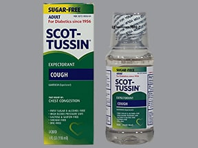 Scot-Tussin Expectorant 100 mg/5 mL oral liquid