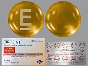 Tirosint 25 mcg capsule