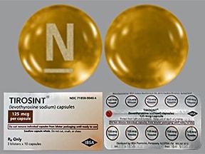 Tirosint 125 mcg capsule