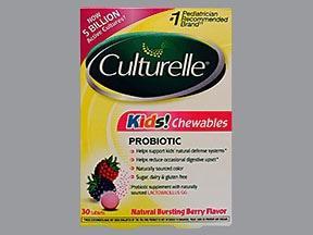 Culturelle Kids Probiotics 5 billion cell chewable tablet