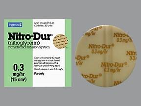 Nitro-Dur 0.3 mg/hr transdermal 24 hour patch