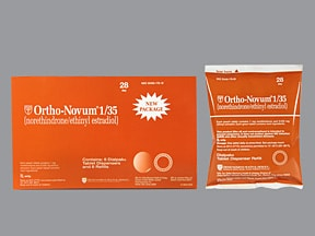 Ortho-Novum 1/35 (28) 1 mg-35 mcg tablet