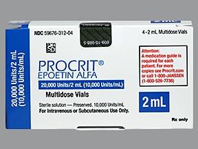 Procrit 20,000 unit/2 mL injection solution