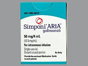 Simponi ARIA 12.5 mg/mL intravenous solution