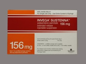Invega Sustenna 156 mg/mL intramuscular syringe