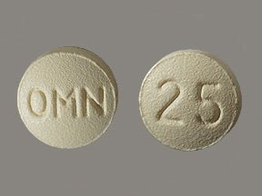 Topamax 25 mg tablet